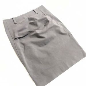 Brunello Cucinelli gray rouched stretch skirt 6